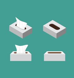 Tissue box icons in flat style vector