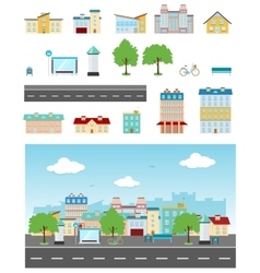 Urban Street Set vector