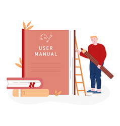 User manual tutorial concept reading vector