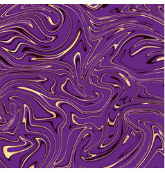 violet and gold marble abstract background vector image