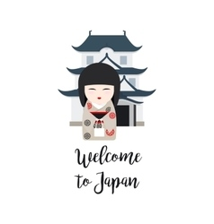 Welcome to Japan vector image