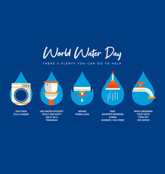 world water day infographic for house help vector image