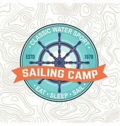 yacht club patch concept for shirt print vector image