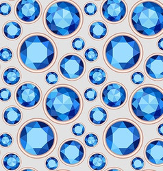 blue saturated color Sapphire seamless pattern vector image vector image