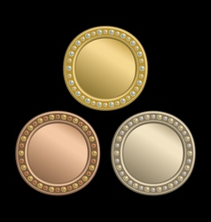 Circle plaque vector image vector image