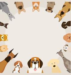 dog breeds round frame vector image