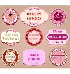 Set of coffee label design vector image vector image