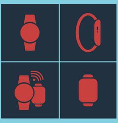 smart watches set vector image vector image