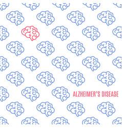 Alzheimer disease pattern poster vector
