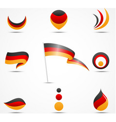 Flags and icons of germany vector