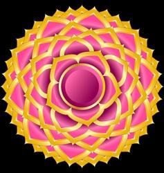 hindu chakra sahasrara medallion vector image vector image