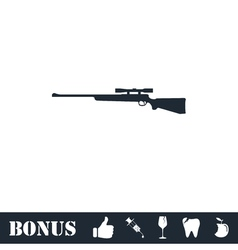 Sniper Rifle icon flat vector image vector image