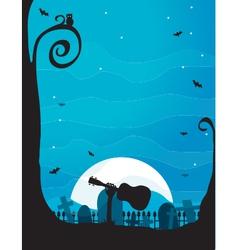Ukulele Halloween vector image vector image