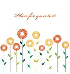 cute stylish abstract flowers vector image vector image