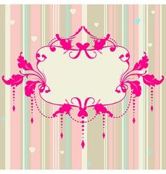Pastel romantic background vector image vector image
