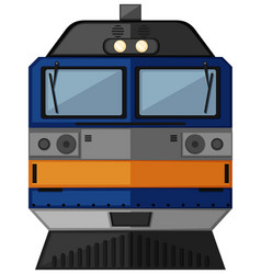 Train head with blue color vector
