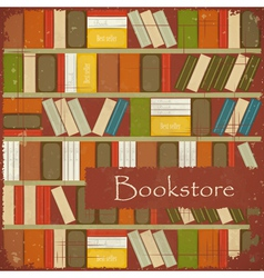 Vintage Bookstore Background vector image