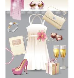 vintage wedding vector image