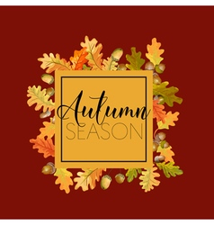 Autumn Leaves Background Floral Banner Design vector image vector image