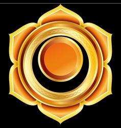 hindu chakra svadhisthana medallion vector image