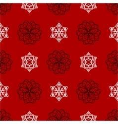 snowflake winter Christmas seamless red vector image vector image