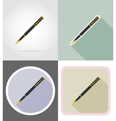 stationery flat icons 12 vector image vector image