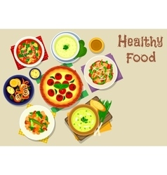 Tasty food icon for lunch menu design vector image
