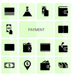 14 payment icons vector image