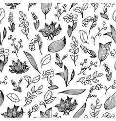 A seamless pattern with hand-drawn doodles vector
