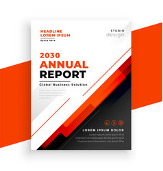 abstract annual report red brochure template vector image