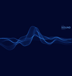 abstract blue digital equalizer vector image