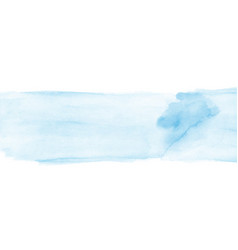 Abstract blue watercolor hand-painted for vector