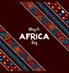 Africa day card traditional african art vector