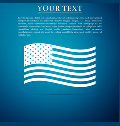 american flag icon on blue background flag of usa vector image