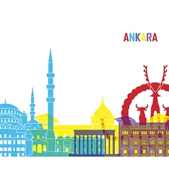 Ankara skyline pop vector