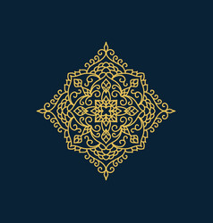 Arabic style decorative element vector