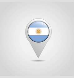 argentina flags map pointer design vector image