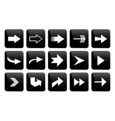 Arrow button set vector
