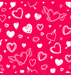 beautiful seamless pattern with doodle sketch vector image