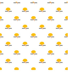 brain work pattern seamless vector image