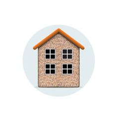 Brick house vector