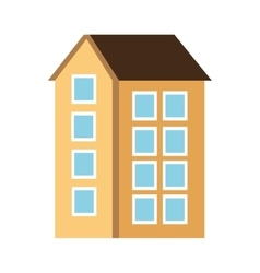 Building silhouette isolated icon vector