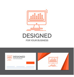 business logo template for analytics processing vector image