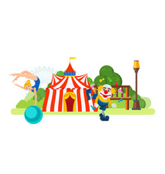 Circus located in park main entrance to room vector