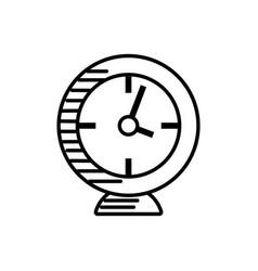 clock alarm watch outline vector image