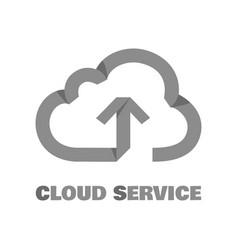 cloud service pictogram vector image