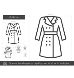 Coat line icon vector