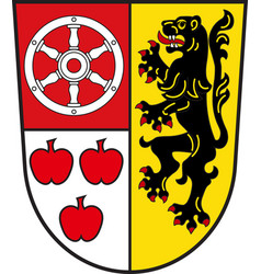Coat of arms of weimarer in thuringia in germany vector
