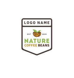 coffee nature logo vintage template shield vector image