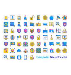 computer security icon set vector image